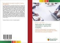 Capa do livro de Aplicação da correção monetária - Justiça do trabalho
