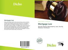Bookcover of Mortgage Law