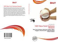 1921 New York Yankees Season kitap kapağı