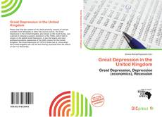 Capa do livro de Great Depression in the United Kingdom