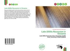 Bookcover of Late-2000s Recession in Oceania
