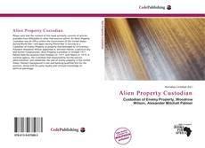 Bookcover of Alien Property Custodian
