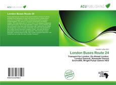 London Buses Route 24 kitap kapağı
