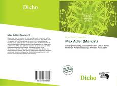 Bookcover of Max Adler (Marxist)