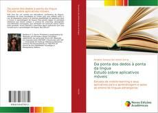 Capa do livro de Da ponta dos dedos à ponta da língua Estudo sobre aplicativos móveis