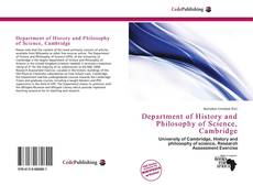 Bookcover of Department of History and Philosophy of Science, Cambridge
