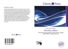Bookcover of Decline effect