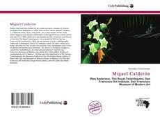 Portada del libro de Miguel Calderón