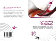 2011 Australian Manufacturers' Championship的封面