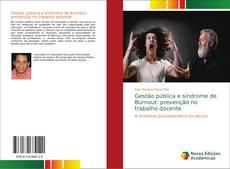 Bookcover of Gestão pública e síndrome de Burnout: prevenção no trabalho docente