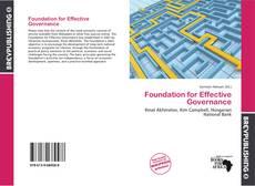 Copertina di Foundation for Effective Governance