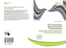 Portada del libro de 1975 Australian Manufacturers' Championship
