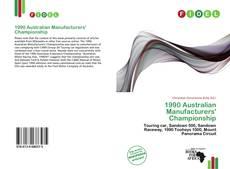 Capa do livro de 1990 Australian Manufacturers' Championship