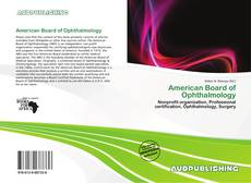 Bookcover of American Board of Ophthalmology