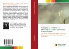 Capa do livro de Filosofia da História nos Manuais de Direito Natural do Brasil Império
