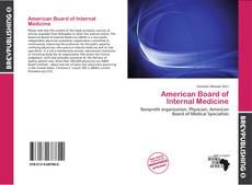 Buchcover von American Board of Internal Medicine