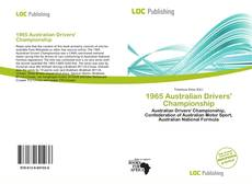 Bookcover of 1965 Australian Drivers' Championship