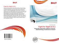 Bookcover of Fight for Sight (U.S.)