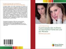 Capa do livro de A participação das mulheres no movimento Frente de Luta por Moradia