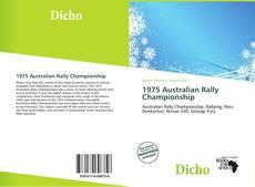 Copertina di 1975 Australian Rally Championship