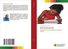 Capa do livro de Ensino da escrita