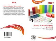 Buchcover von History of Sudan (1986–present)