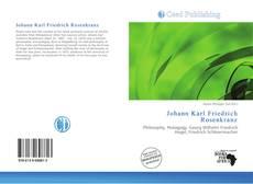 Bookcover of Johann Karl Friedrich Rosenkranz