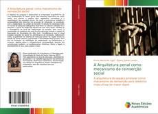 Capa do livro de A Arquitetura penal como mecanismo de reinserção social