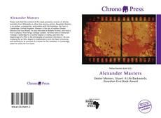 Portada del libro de Alexander Masters