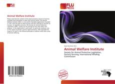 Bookcover of Animal Welfare Institute