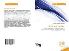 Bookcover of Adams motor