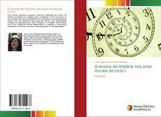 Capa do livro de O ensino de História nos anos iniciais do ciclo I
