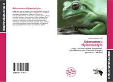 Portada del libro de Adenomera Hylaedactyla