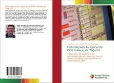 Обложка Eletrodeposição aplicando DOE método de Taguchi
