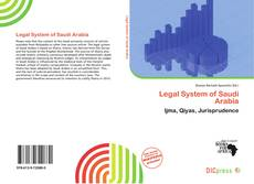 Buchcover von Legal System of Saudi Arabia