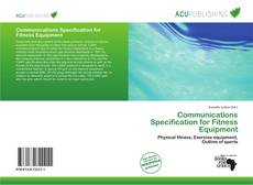 Copertina di Communications Specification for Fitness Equipment