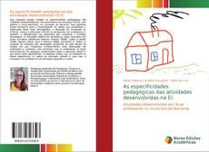 Обложка As especificidades pedagógicas das atividades desenvolvidas na EI