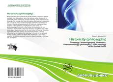Bookcover of Historicity (philosophy)