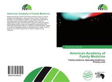 Bookcover of American Academy of Family Medicine