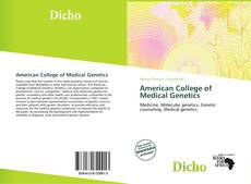 Bookcover of American College of Medical Genetics