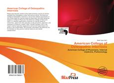 Couverture de American College of Osteopathic Internists