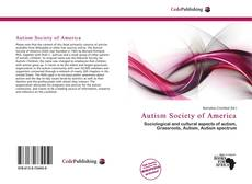 Capa do livro de Autism Society of America