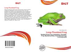Couverture de Long-Thumbed Frog