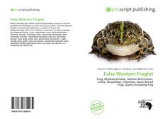 Bookcover of False Western Froglet