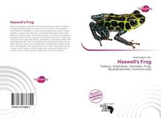 Bookcover of Haswell's Frog