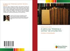 """Capa do livro de A sátira nas """"Histórias e sonhos"""" de Lima Barreto"""