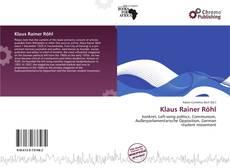 Couverture de Klaus Rainer Röhl