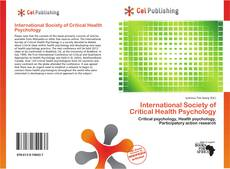Bookcover of International Society of Critical Health Psychology
