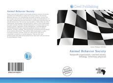 Copertina di Animal Behavior Society
