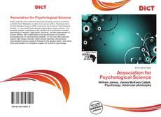 Bookcover of Association for Psychological Science